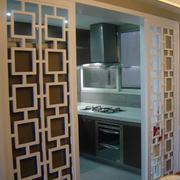时尚的厨房门花纹