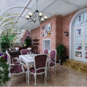 休闲舒适的别墅型露台阳光房装修效果图