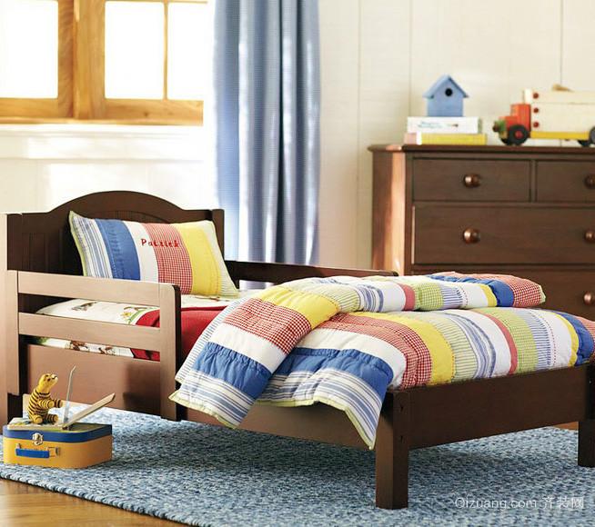 90平米大户型欧式卧室实木床装修效果图鉴赏