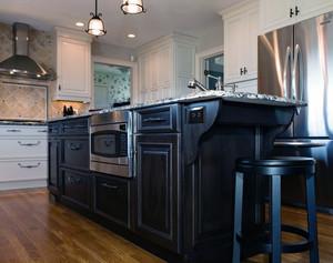 引领潮流的都市开放式厨房欧派橱柜装修效果图