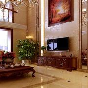 豪华大客厅背景墙展示