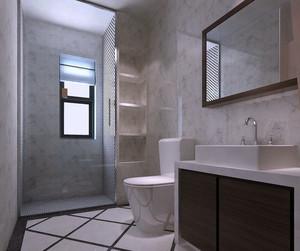154平米跃层住宅现代简约卫生间装修图