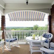 别墅地中海风格小阳台护栏装修效果图
