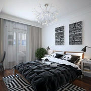 黑白系列卧室欣赏