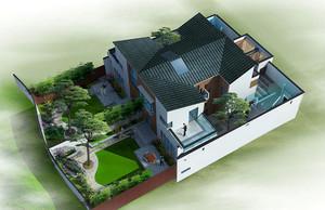 中华味道:中式四合院别墅装修效果图