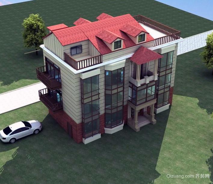 2016现代简约风格钢结构别墅设计效果图