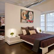 前卫卧室床头隔断墙