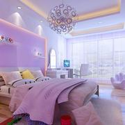儿童房紫色现代设计