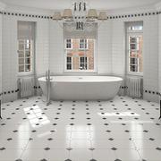 黑白相间的卫生间设计