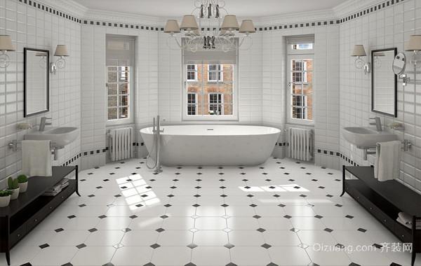 122平米两室一厅精致都市卫生间瓷砖贴图