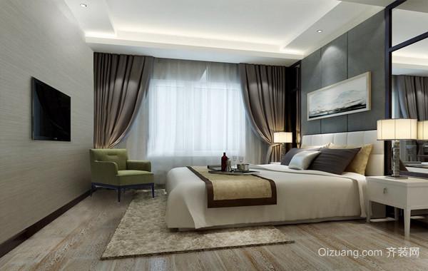 2016三室两厅两卫现代卧室吊顶效果图