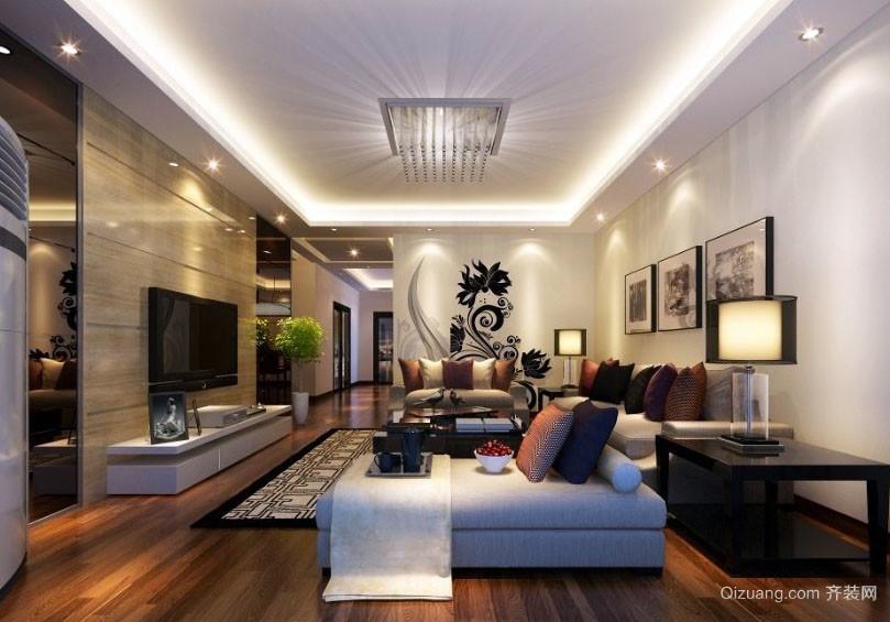 后现代风格177平米房屋客厅装修设计图