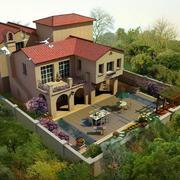 环境优美的别墅庭院欣赏