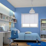 简约蓝色儿童房设计