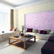 100平米大户型客厅液体壁纸背景墙装修效果图