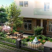 清新自然别墅庭院展示