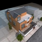 2016经典的小户型农村二层房屋设计效果图