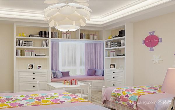 动感一族大户型儿童房背景墙设计装修效果图