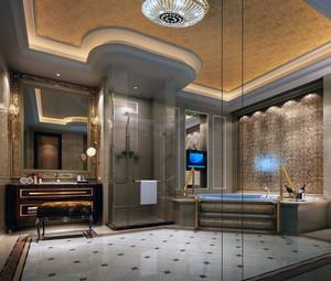 二居室欧式卫生间马可波罗瓷砖背景墙装修效果图