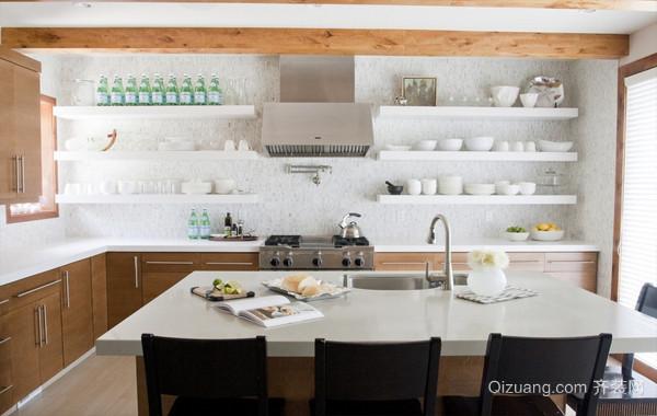 91平米北欧简约风格家居厨房设计效果图