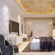 卧室白色个性背景墙