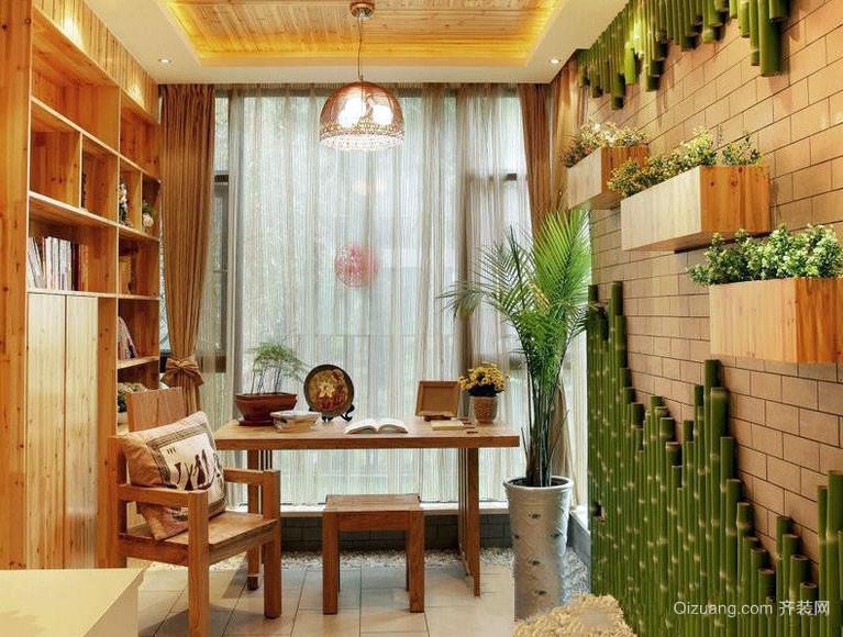 温馨田园风格10平米小书房装修图片