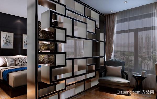 合理划分:宜家小户型卧室隔断装修图