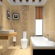 温馨黄色卫生间图片