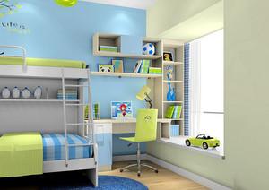 俏皮可爱:小男孩都市儿童房装修效果图
