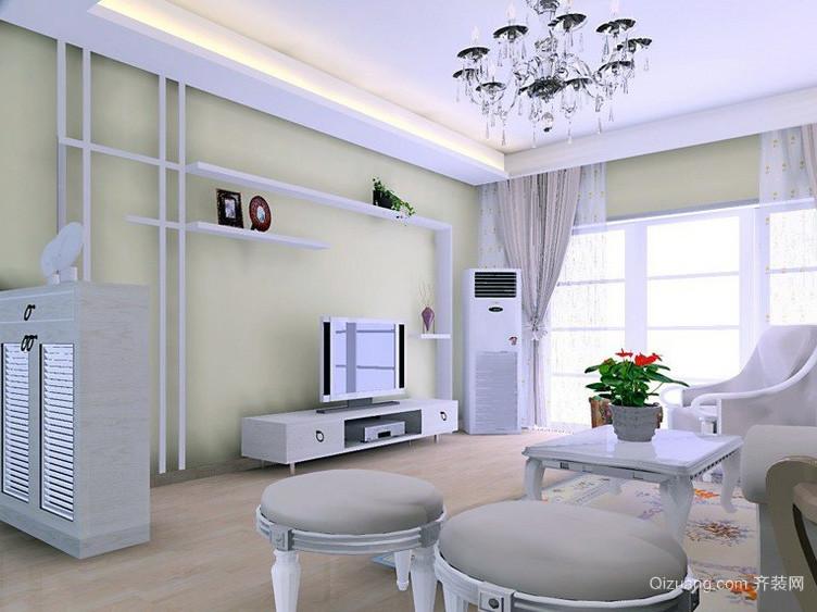 90平米大户型现代简约电视背景墙装修效果图