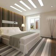 卧室床头条纹壁纸欣赏