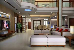 唯美精致的别墅型楼中楼装修效果图