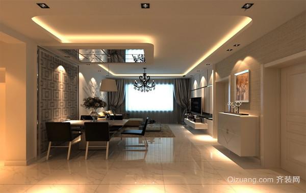 70平米欧式小户型室内餐厅背景墙装修设计效果图