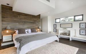 卧室实木床头背景墙
