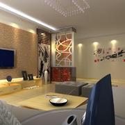 现代89平米房屋个性玄关柜装修设计图