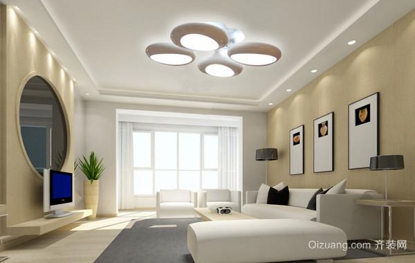 各有韵味的现代客厅吊灯装修效果图片