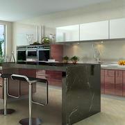 大型开放式厨房橱柜图片
