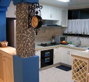 120平米大户型开放式厨房吊顶装修效果图鉴赏