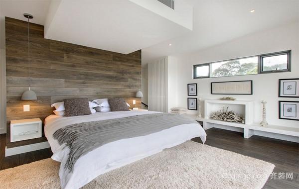 舒心的小户型北欧风格小卧室背景墙装修效果图