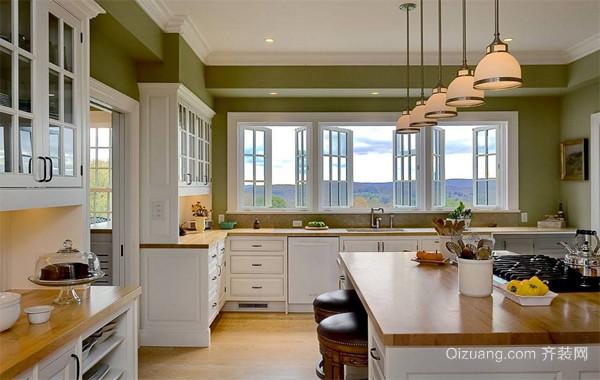 120平米大户型欧式风格开放式厨房吊顶装修效果图