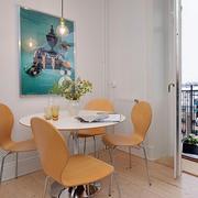 北欧餐厅餐桌椅图片
