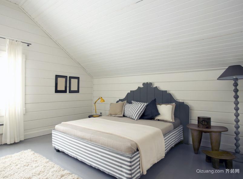 2016大户型现代简约卧室装修效果图