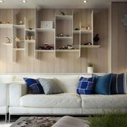 房子客厅沙发背景置物柜