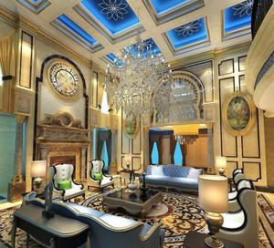 富丽堂皇:巴洛克风格别墅客厅装修效果图