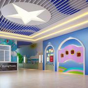 大户型高级都市幼儿园壁画设计效果图