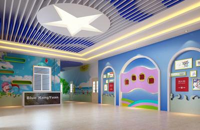 大户型都市幼儿园壁画设计效果图