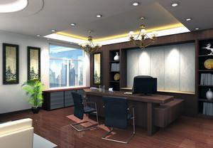 2016都市老板办公室吊顶装修设计效果图