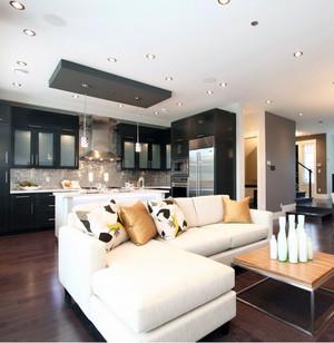 90平米大户型客厅实木茶几装修效果图鉴赏