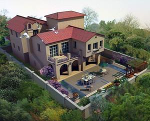 精致独特的现代别墅庭院设计效果图