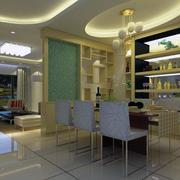 80平米美式装修风格样板房餐厅装修效果图
